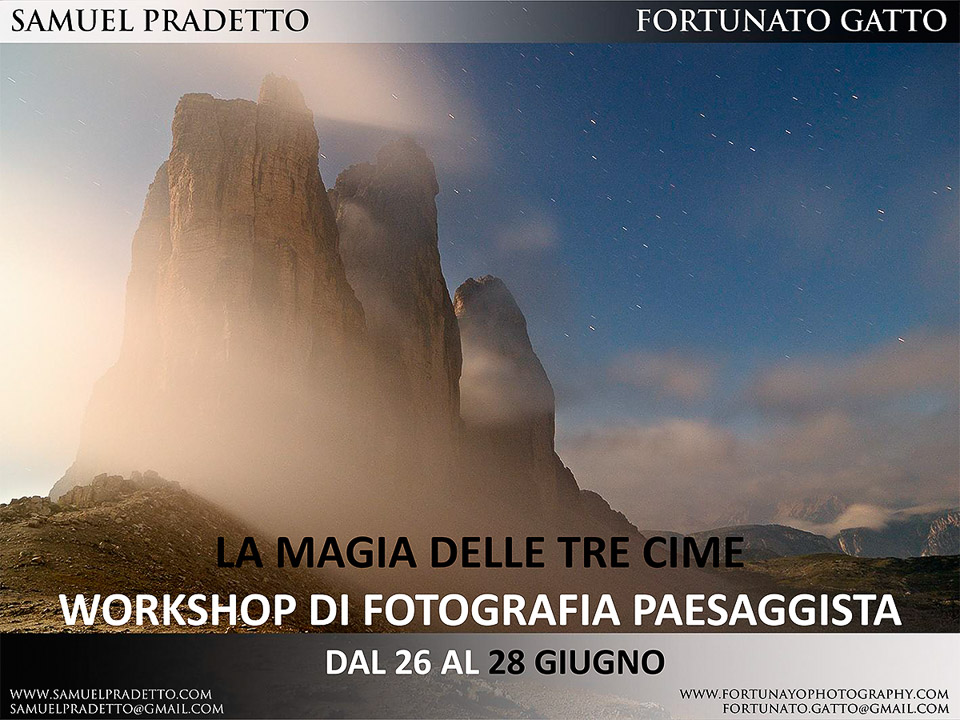 Locandina workshop - Tre cime
